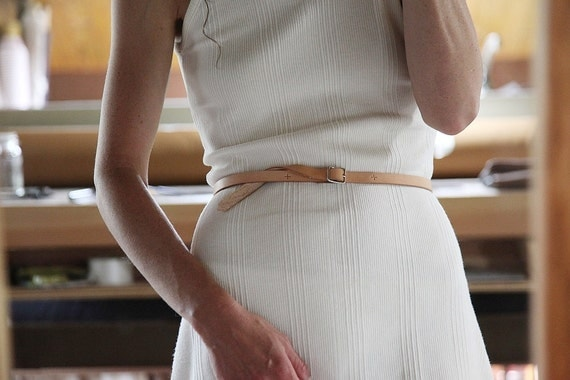 Slim Leather Accessory Belt // Vegetable Tanned