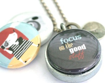 Camera Girl Locket - Photographer Locket, FOCUS, Eco Friendly, Magnetic Necklace by Polarity and Yaelfran