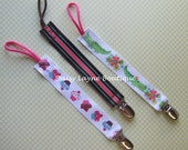 Three pack - Universal Pacifier Clip Holder -- Fits ALL TYPES of pacifiers