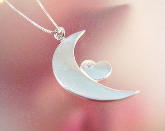 To the Moon - Fine Silver Pendant