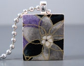 SALE Evening Bloom - A Scrabble Tile Necklace in a tin