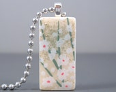 SALE Wildflowers - A Mini Domino Necklace in a Tin