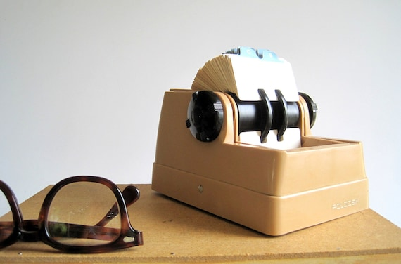 Rolodex Vintage Desktop File / Desk Accessory / Mid Century Office Supply