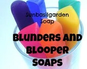 Soap Sale, Bath Bombs Soap. BLUNDERS and BLOOPERS, 2 for price of 1, Gift for Her, Clearance Bath & Body Sale, Grab Bag, 6569