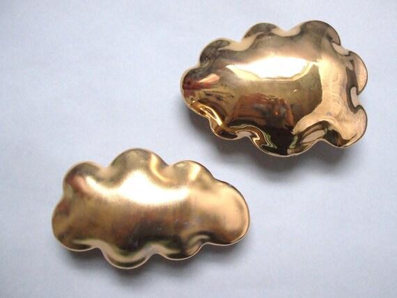 Matte Golden cloud - porcelain wall  cloud pillow