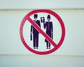 No Bible Thumpers Allowed Outdoor Wall Decal / Sticker