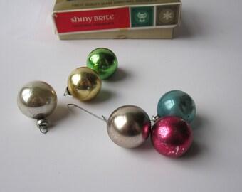 Vintage Shiny Brite Miniature Christmas Ornaments - One Dozen