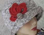 Crochet Hat Pattern Flapper Style With Brim Petal Trim And Back Pleats  Digital Download