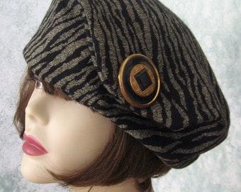 Womens Beret Hat Pattern Vintage 1930s Oversized Versatile Beret Pattern Instant Download