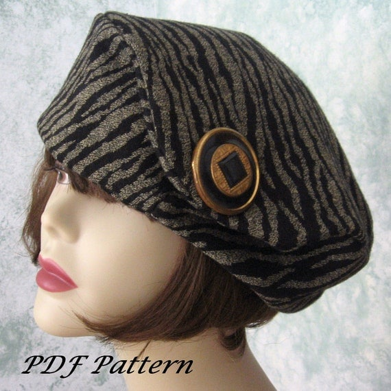 Womens Beret Hat Pattern Vintage 1930s Oversized Versatile Beret Pattern Instant Download