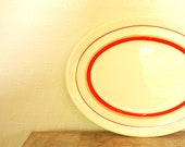 vintage striped serving platter