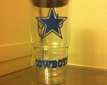 Clear Personalized Tervis Tumbler with lid - 24 oz