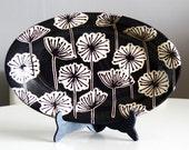 RESERVED for Jordana - Dandelion Deep Platter and Earl Grey Platter