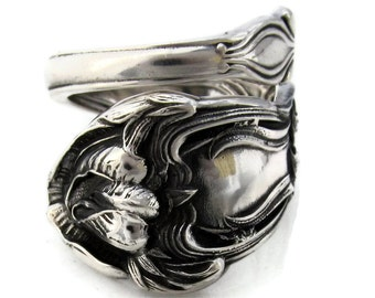 My Little Sweet Pea Spoon Ring Size 6 - 10 Sterling Silver