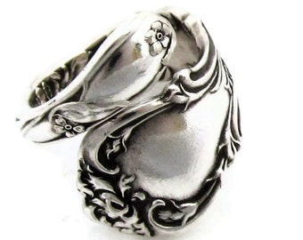 Spoon Ring Demitasse size 3 - 8  Wrapped Wallace 1902