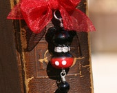 Reading Disney Inspired Mickey Mouse Style SRA Lampwork DeSIGNeR Bookmark Disneyland Magical