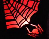 Spiderweb Luminary Halloween Table Tent Light Lantern