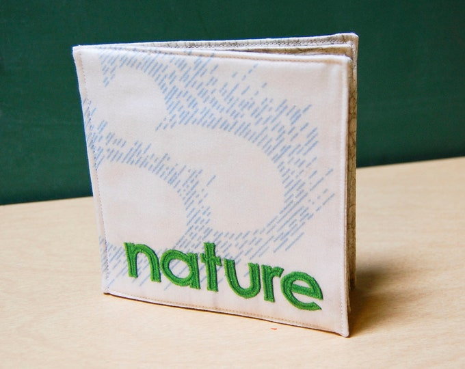 Nature Cloth Book, printed on organic cotton