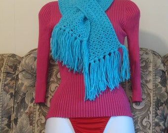 Comfy Bright Turquoise Blue Neckwarmer Christmas Gift Present Teacher Stocking Stuffer Birthday Mothers Day Free Gift
