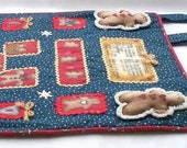 Christmas Quilt Wallhanging - Grandma's Gingerbread Recipe - Holiday banner