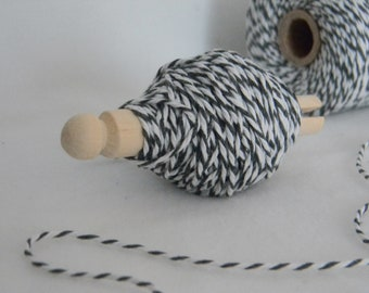 25 yards bakers twine gray and white