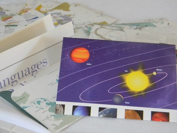 Vintage World Atlas mailing envelopes
