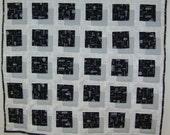 Color Block lap quilt - CLEARANCE