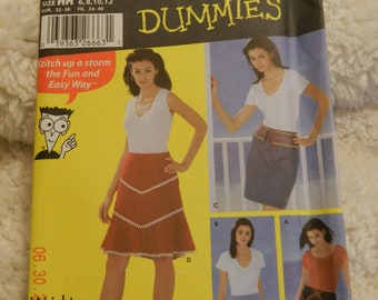 Misses Skirts with Trim and Length Variations Size 6-12 Simplicity 5563 Uncut