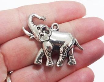 6, Elephant Pendant Charms 32x39x5mm ITEM:AD1