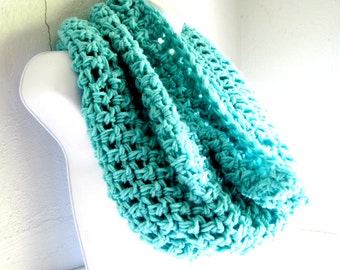 """Infinity Scarf Cowl-Mint Green Seafoam Green  Extra Large Chunky Scarf   """"Buy one get one 50% off lowest price"""""""