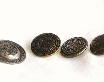 Vintage buttons,buttons,  4 pieces, variety, F, destash