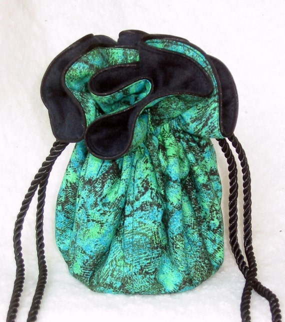Anti tarnish jewelry pouch impressions in green by jarck101 for Anti tarnish jewelry bags
