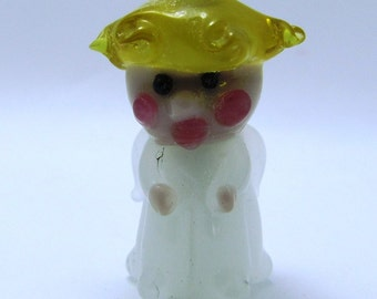 Hark the Herald Angel - Lampwork Bead