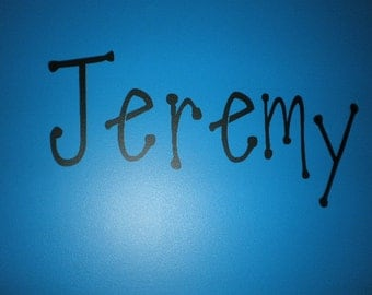 Personalized name or monogram or saying for wall vinyl decal