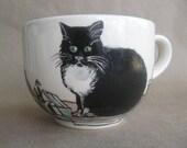 Amsterdam cats -  Big Handpainted Mug - ready to ship