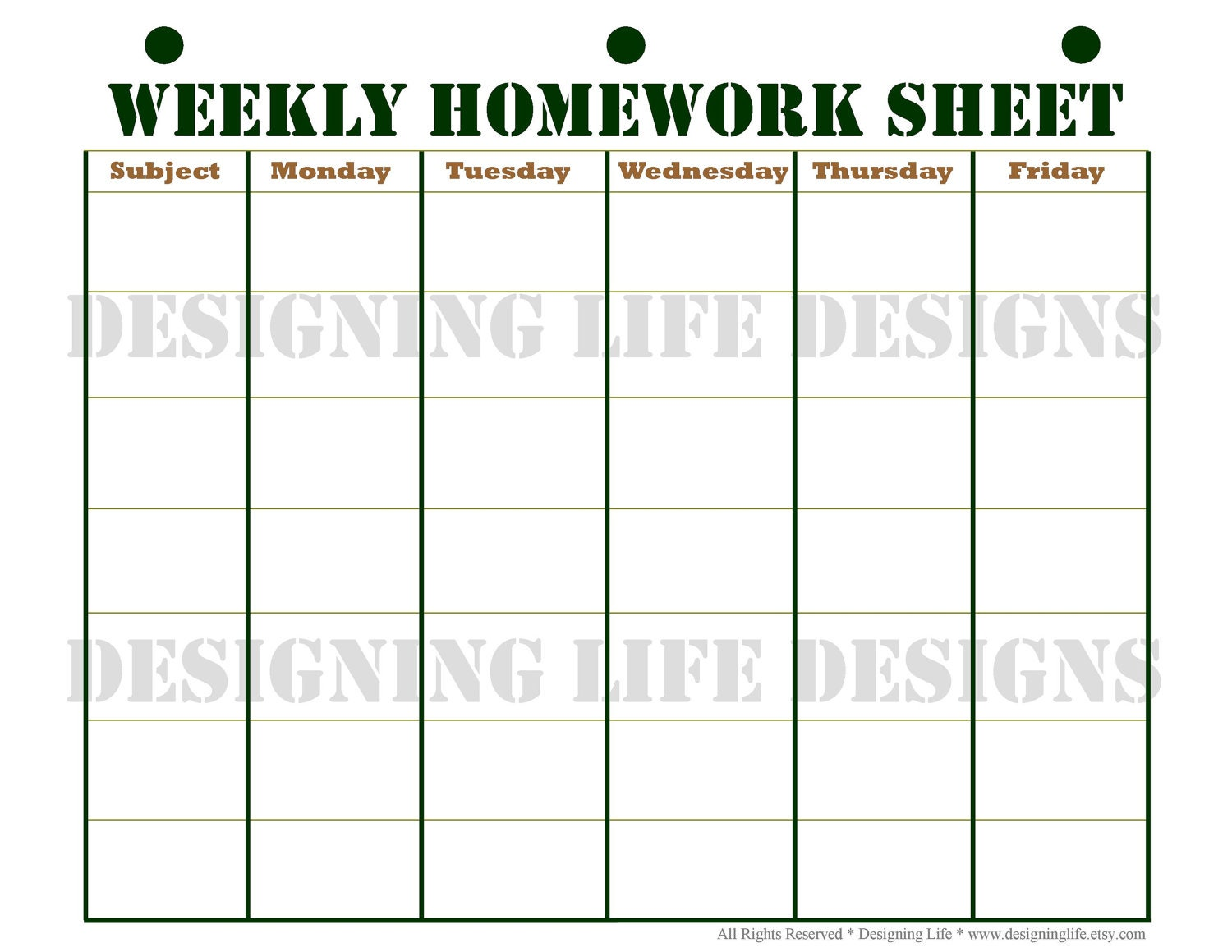 printable homework planner sheets - Romeo.landinez.co