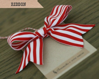 Wide Red Candy Stripe Ribbon