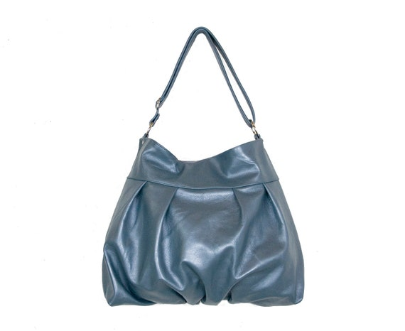 SALE - Baby Ruche Hobo Bag in Ocean Pearl Metallic Leather - Last One - Ready to Ship