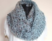 ON SALE - Multicolor Angora Mohair Blend Sparkly Large Cowl- Ready to Ship