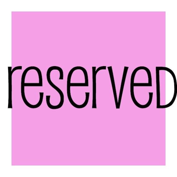 reserved for pinkrosesandlace