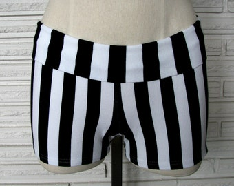 Vertical Stripe Shorts, Dance Shorts, Made to Order, XXS - L