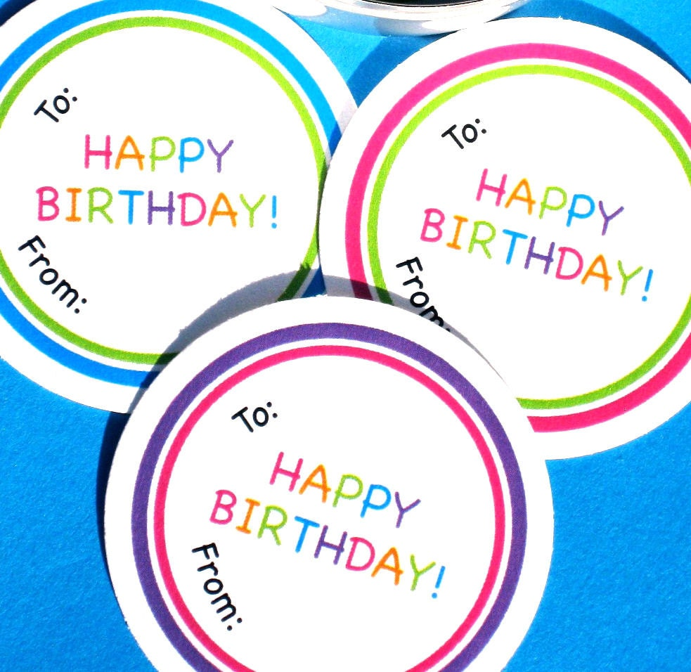 PRINTABLE Happy Birthday Gift Tags Labels In By Ladybuglabels