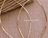 Gold Leaf Hoop Earrings Simple Classy Modern. Summer. Dangles.