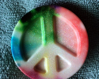 Peace Sign Soap - Tie Dye, Party Favor, Teen gift, Best friends gift, Party favor, Birthday