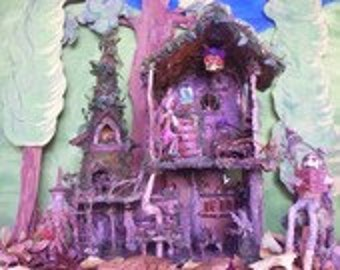 """Print, """"The Elf's Forest Cottage"""""""
