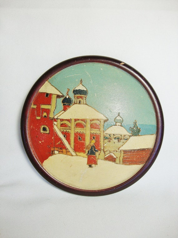 vintage russian wall plaque picture ussr