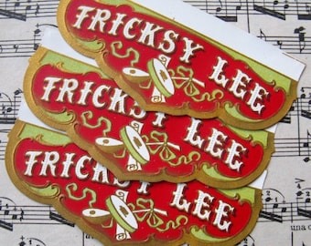 vintage labels - cigar - 5 - Tricksy Lee - collage ephemera