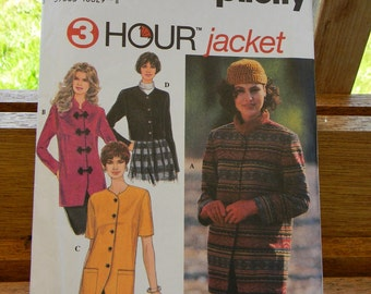 Simplicity 3 Hour Jacket Pattern N9218 Uncut, Multisized