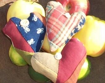 woolen HEARTs antique quilt bowl fillers decorations