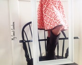 Fall Butterfly Circle Skirt- Listing Sizes: 7 8 - Back To School